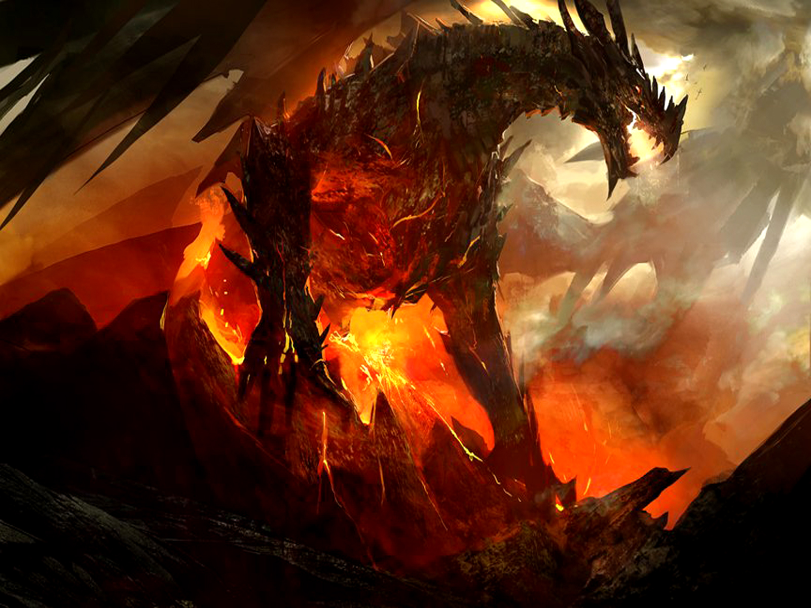 GallianMachi: 3D Fantasy Dragon Wallpapers