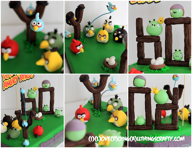 Angry Bird Fondant Cake for a 60 Year Old