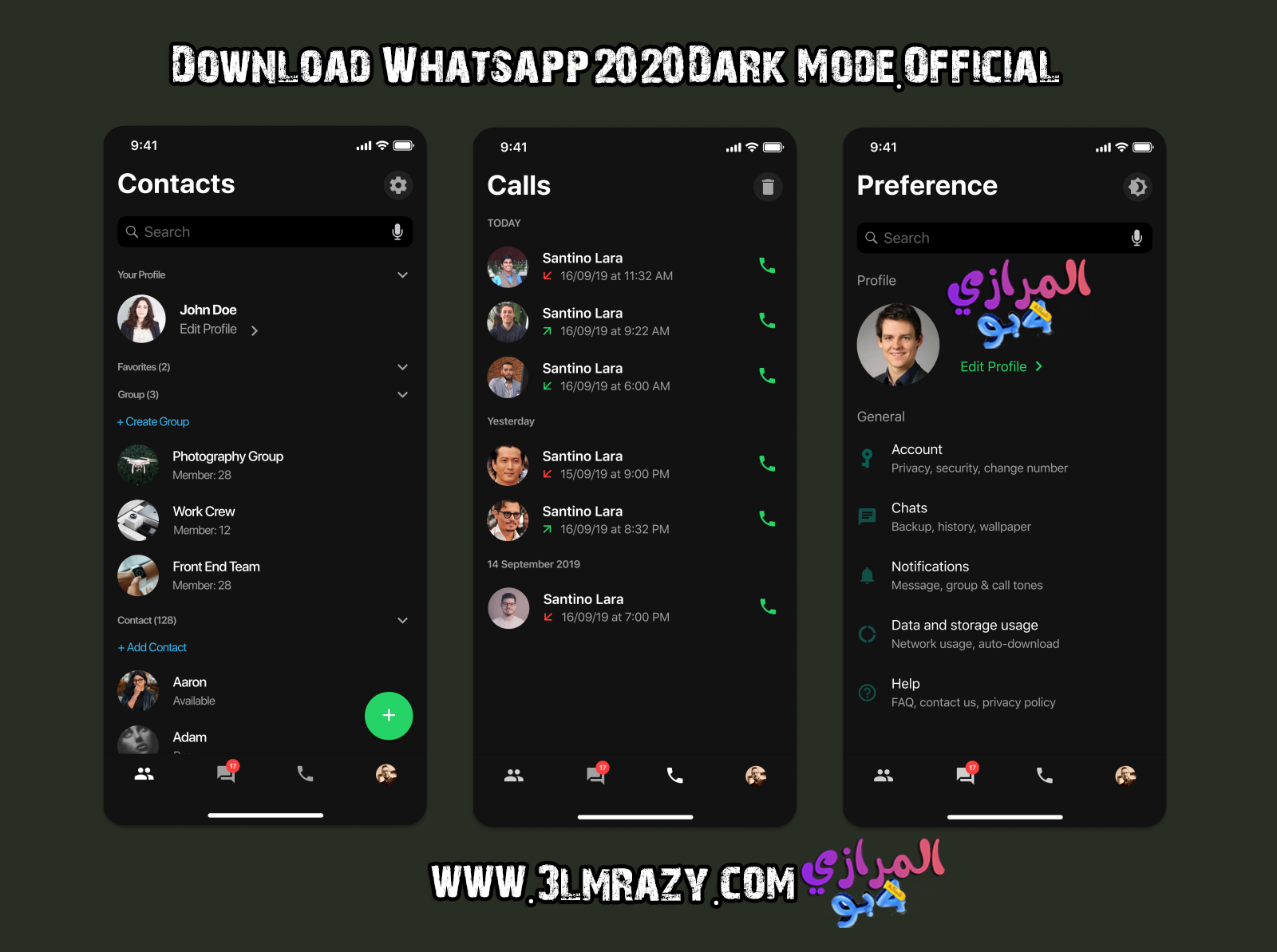 Download Whatsapp 2020 [Dark Mode] Official