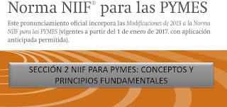 Sección 2 NIIF para PYMES Conceptos y principios fundamentales