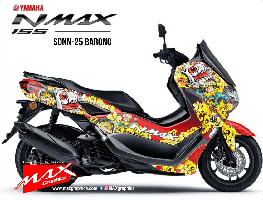 stiker decal new nmax tema barong fullbody printing