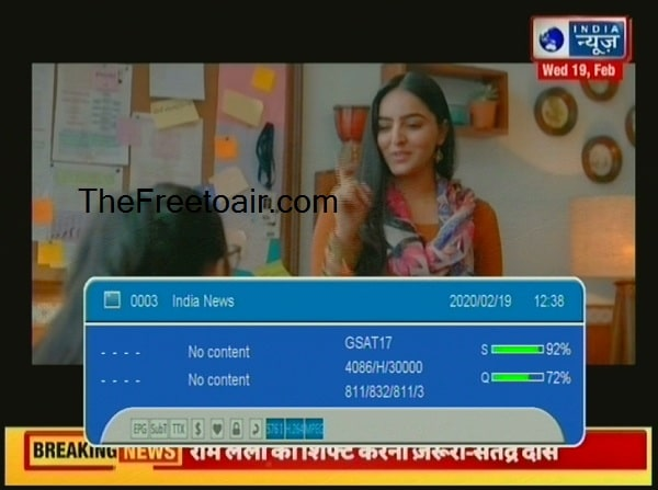 India News channel Live, India News Frequency, Satellite Kya hai