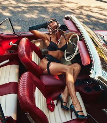 Jessica Sarfaty,modeling in car