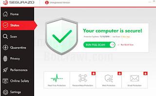 Cara hapus Segurazo Antivirus
