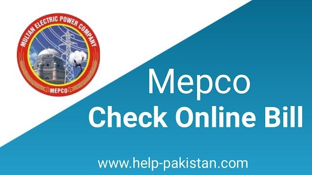 Mepco Online Bill-Mepco Bill