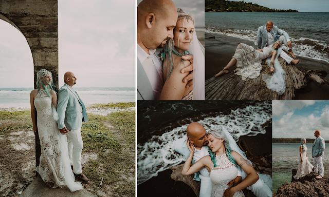 blonde bride white dress