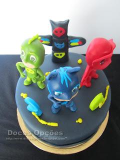 bolo decorado doces opções bragança PJ Masks susana aleixo