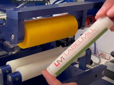 LabelMill 1005 Applied Label To Preroll Tube