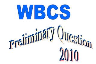 WBCS Preliminary Question Paper 2010, WBCS Preliminary Question Paper