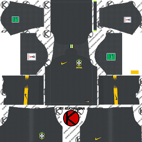 Brazil 2018 World Cup Kit -  Dream League Soccer Kits