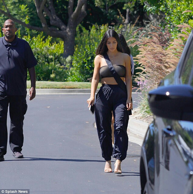 Kim Kardashian flashes her nipples in sheer crop top as she steps out in Los Angeles (PHOTOS)