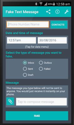 تطبيق لعمل رسائل وهمية, تطبيق Fake Text Message كامل للأندرويد