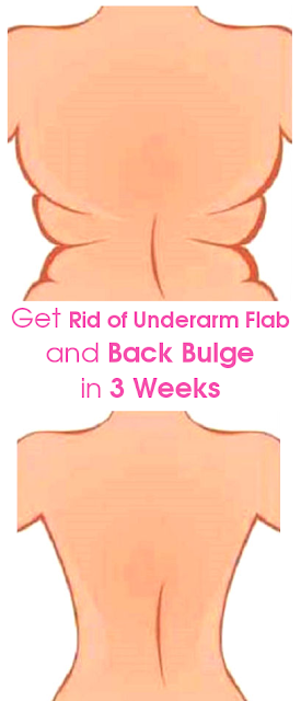 4 Quick Exercises to Get of Underarm Flab and Back Bulge in 3 Weeks