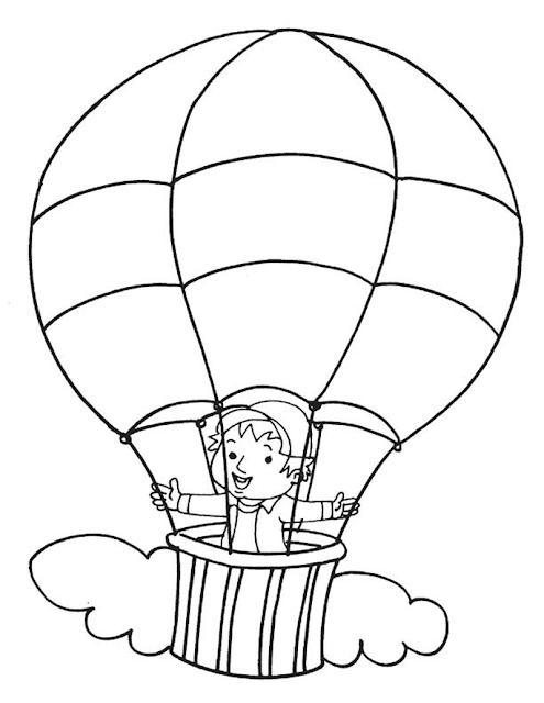 Gambar Mewarnai Balon Udara - 5