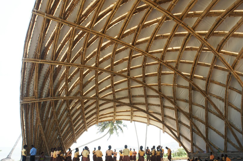 Ghana At Apam Haduwa arts + culture institute protected by dynamic bamboo canopy & Ghana: haduwa arts + culture institute protected by dynamic bamboo ...