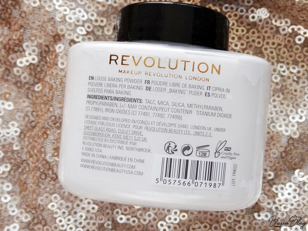puder do bakingu Makeup Revolution Loose Baking Powder White