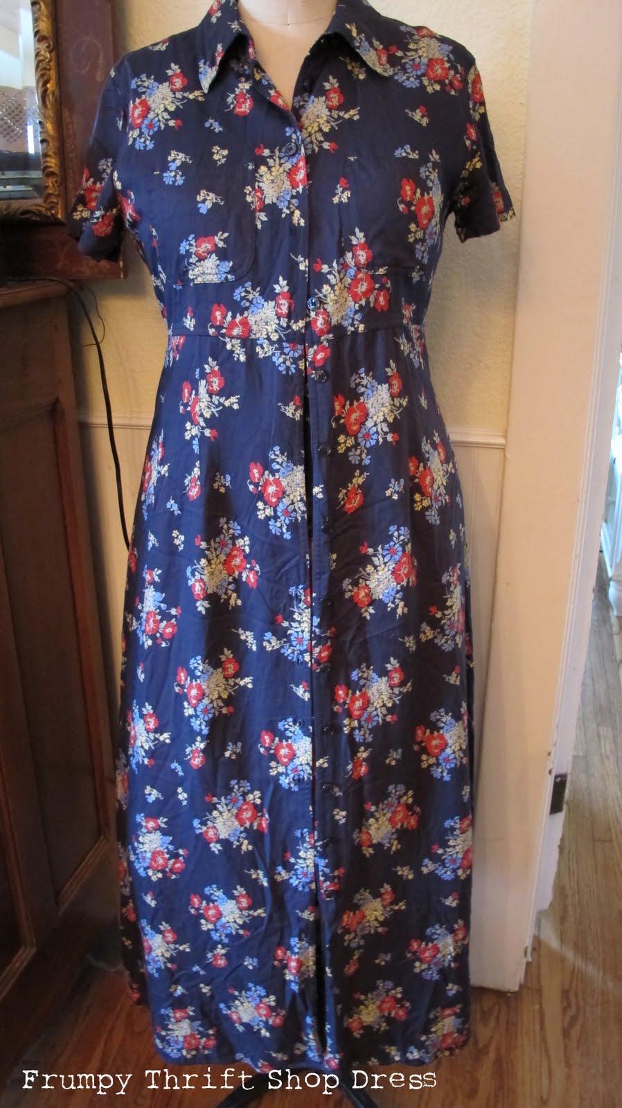 A Forties Six Gore Skirt Shirtwaist Dress Made From A