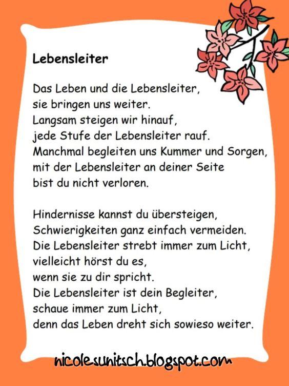 Gedichte von Nicole Sunitsch - Autorin : Lebensleiter
