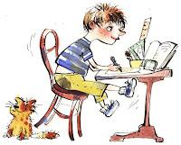 Resultat d'imatges de nen escrivint