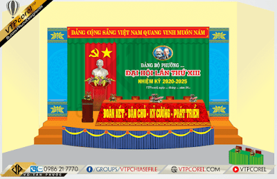 Phông nền hội trường đại hội đảng lần thứ XIII