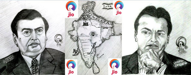 PENCIL DRAWING - ANIL AMBANI