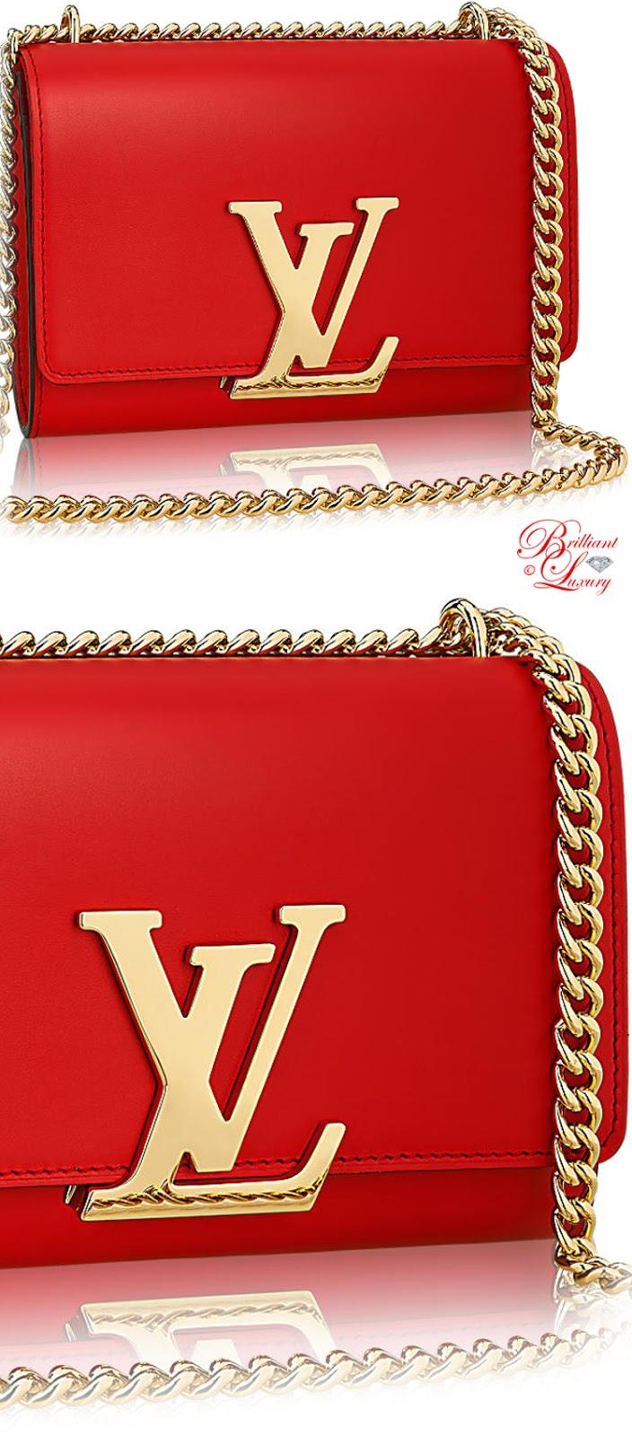 Brilliant Luxury ♦ Louis Vuitton Chain Louise MM Bag