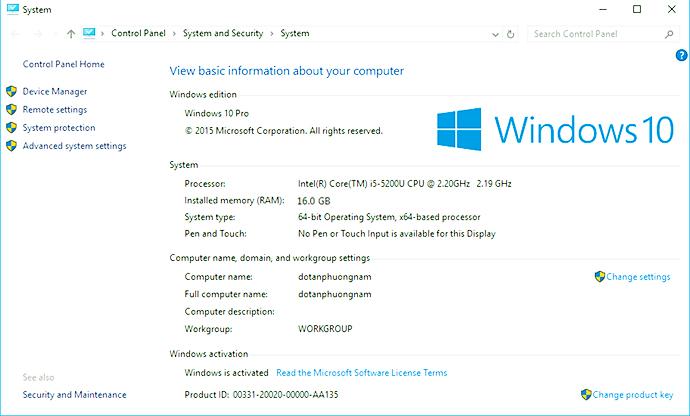 Cách xem cấu hình máy tính Win 7 Win 8 và Win 10 đơn giản nhất
