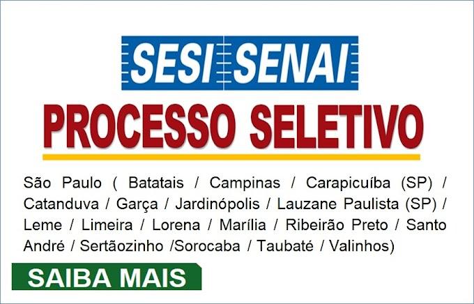 Sesi abre inscrições para Processo Seletivo com salário de R$ 4268,23. Saiba Mais
