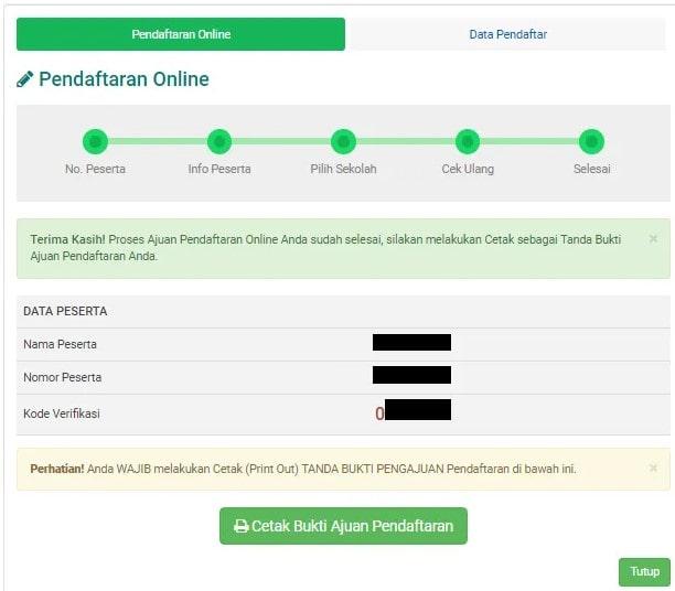 contoh Formulir pendaftaran siswa baru doc