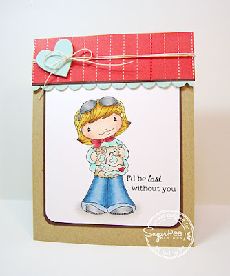 I'd Be Lost Without You card-designed by Lori Tecler/Inking Aloud-stamps and dies from SugarPea Designs
