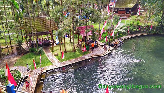 Kolam alami Sendang Seruni Desa Tamansari