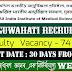 AIIMS Guwahati Faculty Recruitment 2021 - Total 74 Vacancy