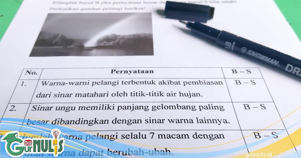 Kaidah Penulisan Soal Benar-Salah dan Ya-Tidak - www.gurnulis.id