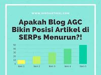 Apakah Blog AGC Menurunkan Peringkat Artikel di SERPs?