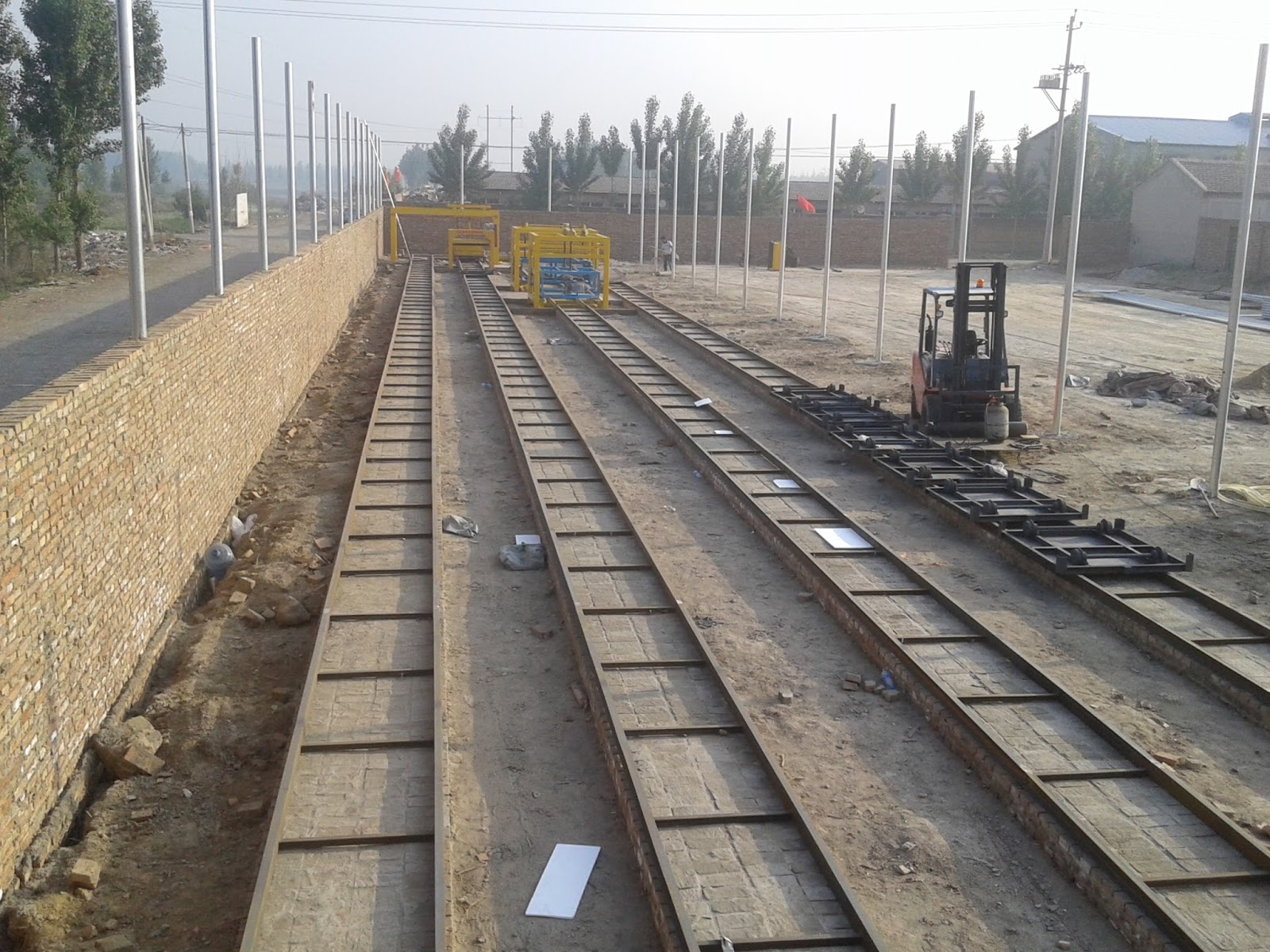 Installation Site Of Clc Block Productin Line In Bazhou City