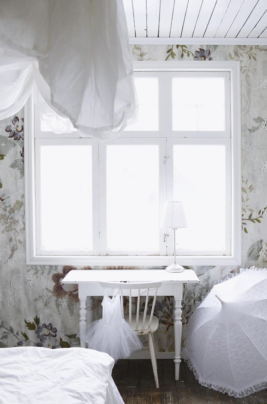 mr perswall, blossom soft, barnrum, blommig tapet, vintage tapet, fototapet, inredning, fotograf, dalarna, grängesberg