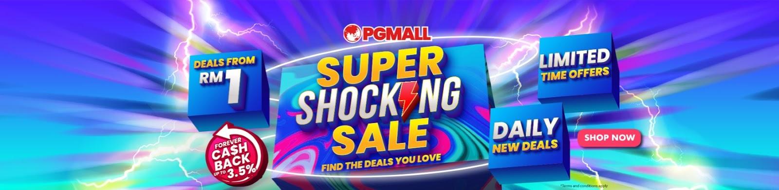 RM1 SUPER SHOCKING SALE HANYA DI PG MALL ONLINE! BERBALOI-BALOI..