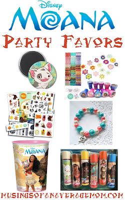 Moana party favors