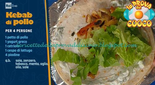 Ricetta Kebab Con Petto Di Pollo.Kebab Di Pollo Ricetta Elisa Isoardi Da Prova Del Cuoco