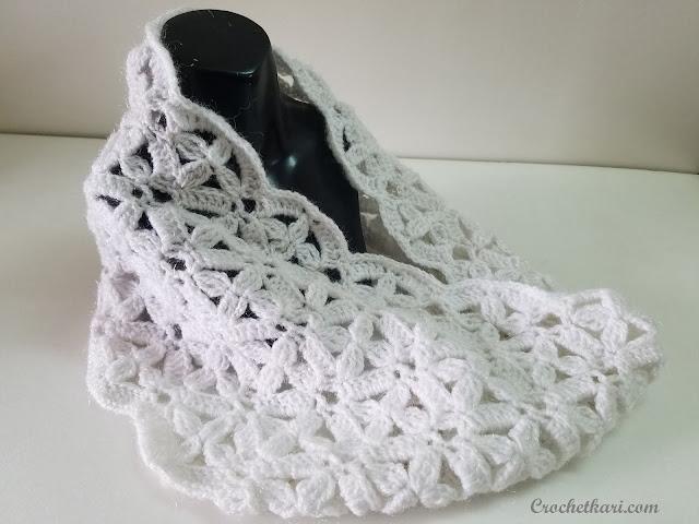 crochet flower cowl free pattern
