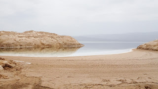 The lake lies at an altitude of 155 meter below sea level
