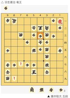 朝日杯将棋オープン戦 藤井聡太 五段 対 羽生善治 竜王4