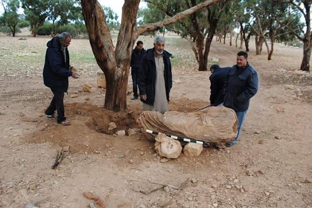 Rain reveals Roman statue in Libya's Tolmeitha