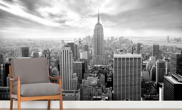 Maisematapetti Mustavalkoinen New York Tapetti Skyline