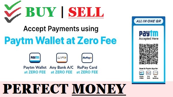 ✔ Perfect money — How to Buy-Sell, Exchange with PayTm, Google pay, Upi, Bank transfer, in India