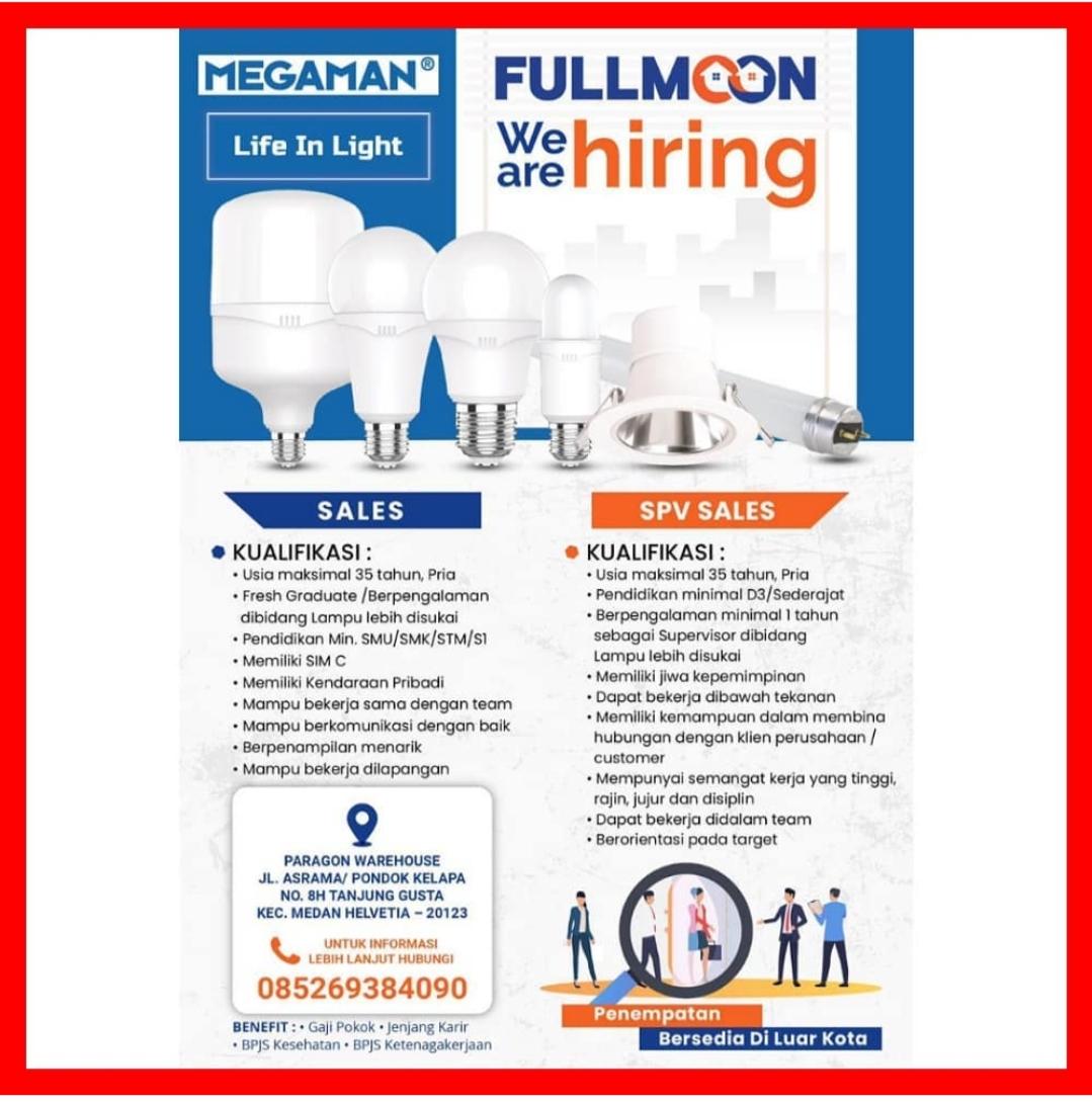 Lowongan Kerja Sma Smk D3 S1 Di Pt Fullmoon Jaya Abadi Medan Mei 2021 Lowongan Kerja Medan Terbaru Tahun 2021