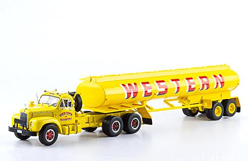 Mack B 61T 1:43 western transport, camiones 1:43, camiones americanos 1:43, coleccion camiones americanos 1:43, camiones americanos 1:43 altaya españa