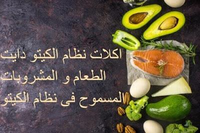 اكلات نظام الكيتو دايت و المشروبات