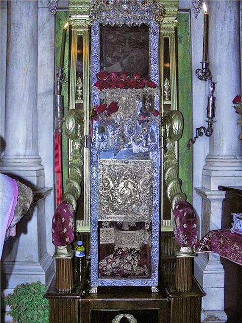 Ковчег с мощами Свт. Спиридона еп. Тримифунтского, чудотворца