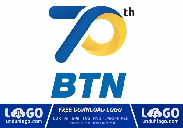 Logo HUT Bank BTN 70 Tahun 2020
